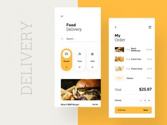 Food Delivery App designed by Cuberto