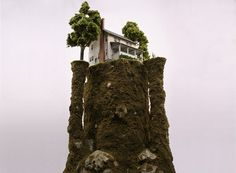 thomas doyle worlds 07 #miniature #diorama #house #art