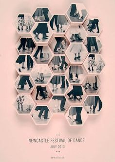 FFFFOUND! | design work life » Amy Rodchester: Newcastle Festival of Dance Posters #dance #festival #poster #inspiring