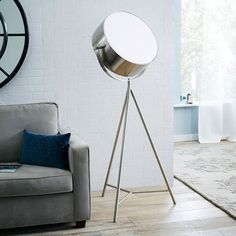 Spotlight Metal Tripod Floor Lamp, Crate & Barrel