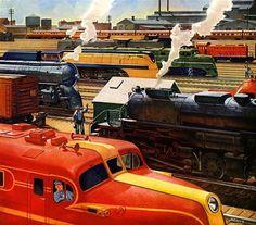 Plan59 :: Vintage Ads :: Classic Trains :: American Locomotive Co., 1945