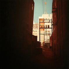 Wall-B World Wild #alley #orange #light #buildings