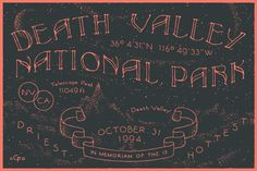 Death Valley NP #type #typography #poster #handdrawn #handtype #illustration