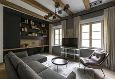 Dark-Coloured Apartment Decor in Vilnius - InteriorZine
