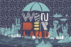 Fonts - YWFT Wonderland by Jackkrit Anantakul - YouWorkForThem #font #illustration #ywft #typography