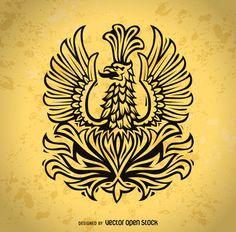 Phoenix bird illustration http://bit.ly/29kdtAb