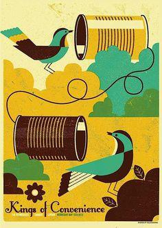 Screen Printed Gig Posters #gig #design #print #screen #poster
