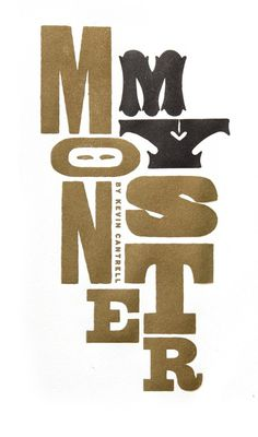 Kevin Cantrell Design / My Monster Book #letterpress #book #wood #illustration #identity #type #typography