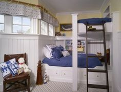 30+ Beautiful Bunk Room Ideas for Kids #kids #bedroom #bunk #room