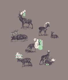 Jacques Maes Illustration on Behance #illustration #deer #poster