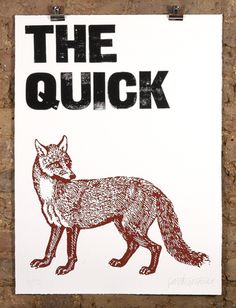 patrick thomas • the quick brown fox • £145 #print #poster #illustration
