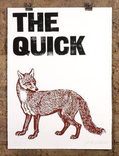 patrick thomas • the quick brown fox • £145 #print #poster #illustration
