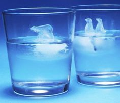 Polar Bear And Penguin Ice Cube Molds #gadget