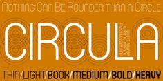 """Circulaâ""""¢ Webfont #circles #typography"""