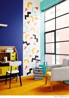 Image result for memphis design wall