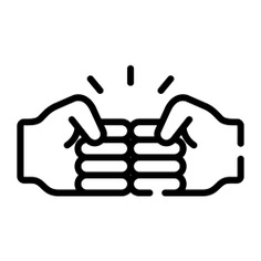 See more icon inspiration related to relationship, trust, friendship, hands and gestures, salutation, greeting and hands on Flaticon.