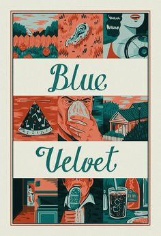 Blue Velvet on Behance #blue #illustration #velvet #poster