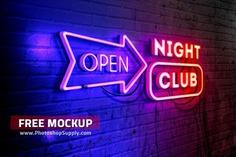 FREE Neon Mockup