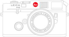 Leica M6 Art Print #camera #illustration #vector #leica