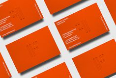 Forma by About Design #orange #branding #stationary #business cards