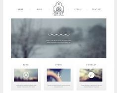 Clean, simple web design