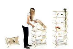 Use only the shelves you need. This foldable shelf can be extended with minimal effort and is super lightweight.
