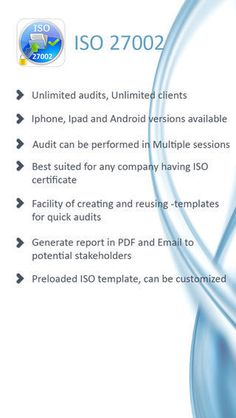 ISO 27002 Information Security Management Audit Tool, IEC 27002 2005 for iPhone #sequrity #informartion #management #iso #27002