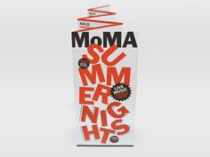 MoMA Nights 2013 The Department of Advertising and Graphic Design #design #typography #leaflet