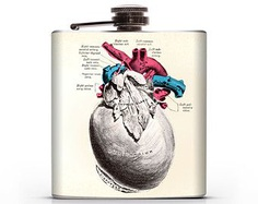 Gray's Anatomy Pericardium Heart - 6oz Hip Flask