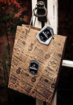 bag, branding, pattern