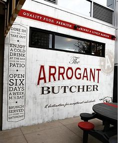 The Arrogant Butcher identity #butcher #type #wall #logo