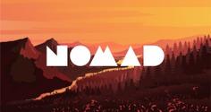 Branding design by Matt Hinchliffe - Nomad Travelling Massage logo design