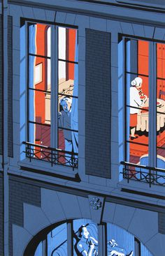 Neighbours on Behance #illustration