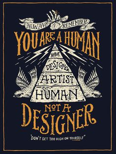 You're-A-Human-2-Poster-Original.jpg, NATHAN YODER #hand drawn #typography #illustration
