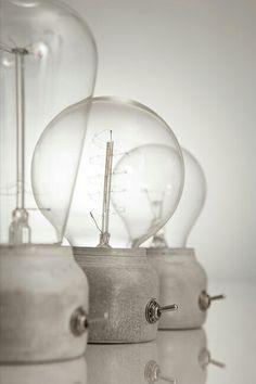 Concrete Light #glass #bulb #light #lightbulb