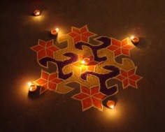 Unique design of rangoli