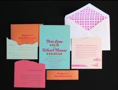 Oh So Beautiful Paper: A Paper Blog –Unique and Custom Wedding Invitation Ideas and Modern Stationery - Part 3 #wedding #print #cards #invites