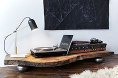 Artvvork. #design #camera #wood #table #stereo #lamp #sound #record player