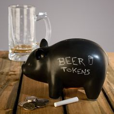 CapitaLIST Pig Chalkboard Piggy Bank #tech #flow #gadget #gift #ideas #cool