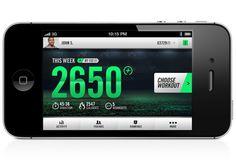 Nike+ Training #nike #mobile #branding