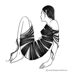 HAIR | Flickr: Flying Mouse2007 #white #bound #black #hair #and #long #drawing