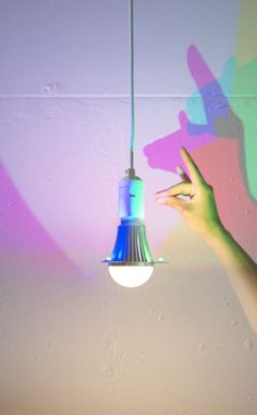 CMYK LED bulb by Dennis Parren #interior #lamp #bulb #design #pendant #cmyk #light #led