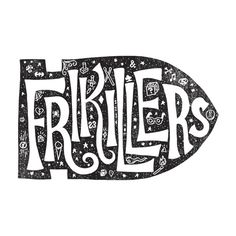 "Fran Efless  |  http://franefless.com""During 100 days, I will write or draw a handmade lettering for 100 local bands I have seen in t #lettering #texture #illustration #hand #typography"