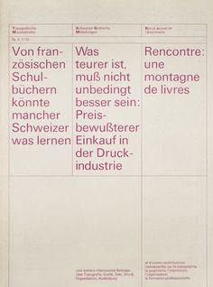 Typografische Monatsblätter #typografische monatsblätter #print #grid #trilingual #modernist