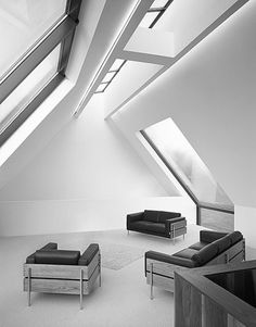 Bell House | Robin Lee Architecture | Archinect #interior #sofa #white #black #architecture #and #window