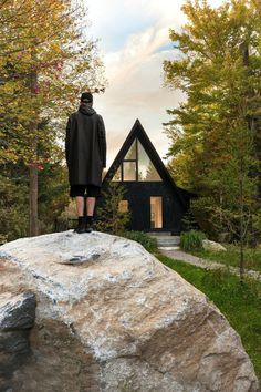 A-Frame Cottage by Jean Verville Architecte