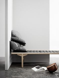 Just a Minute #interior #white #bench #grey