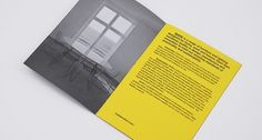 MARK Product | Print Design | A-Side #yellow #brochure