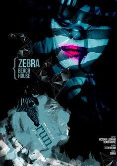 Black and White Horse #abstract #design #victorialegrand #zebra #beachhouse #art #music #graphics