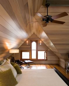 wood bedroom in the attic #interior #design #house #bedroom